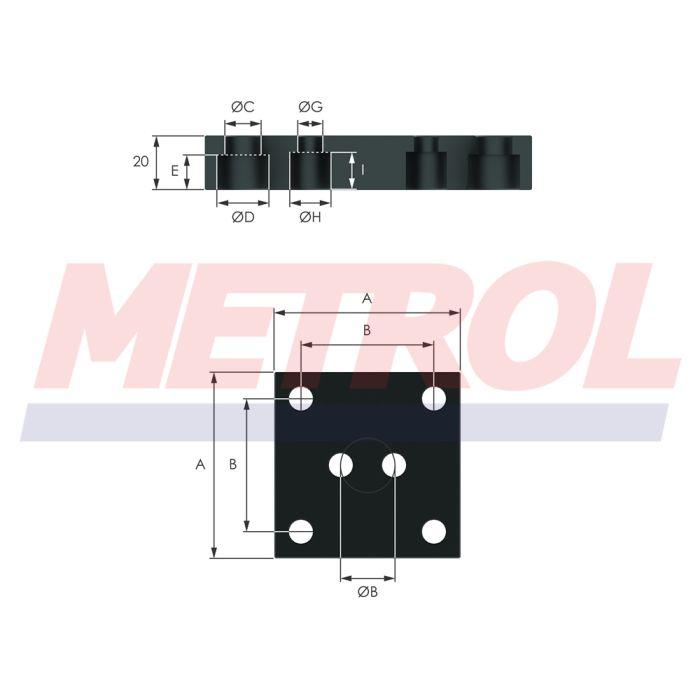 Base Plate 195BP Mounting Option