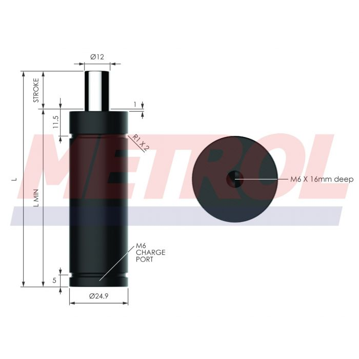 Nitrogen Gas Spring - HDG0042-06