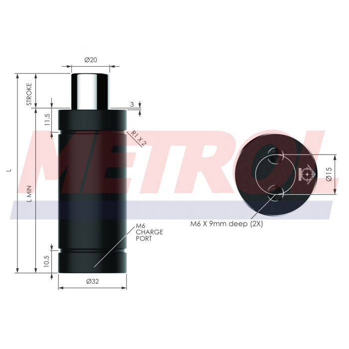 Nitrogen Gas Spring - HDG007-40