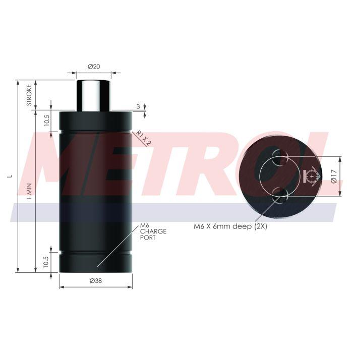 Nitrogen Gas Spring - HDG010-50