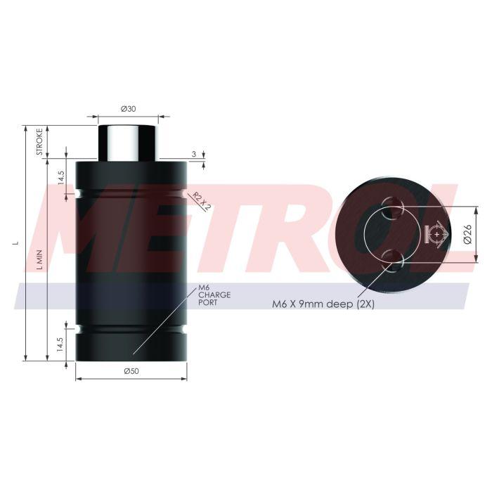 Nitrogen Gas Spring - HDG018-25