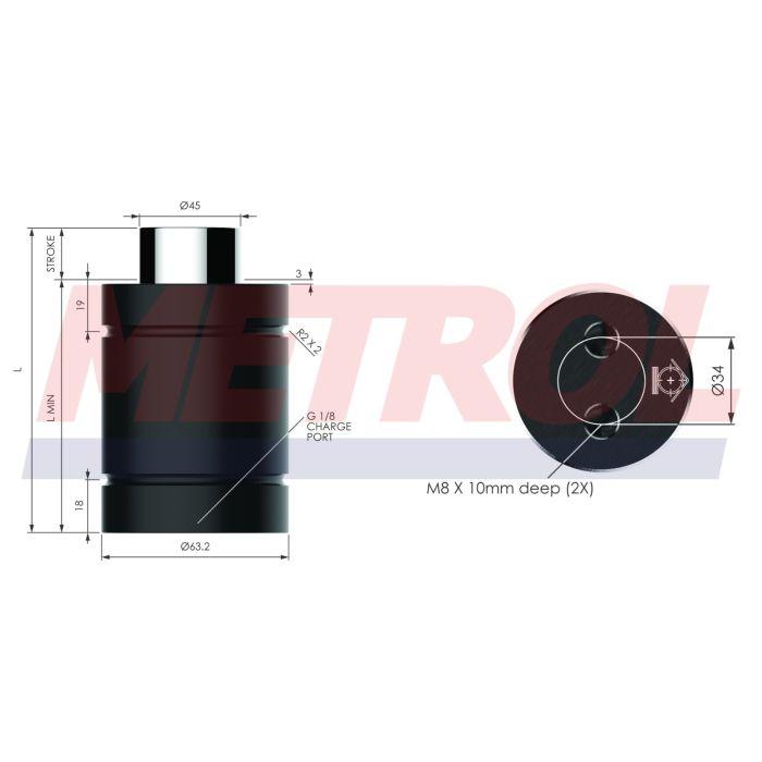 Nitrogen Gas Spring - HDG029-25