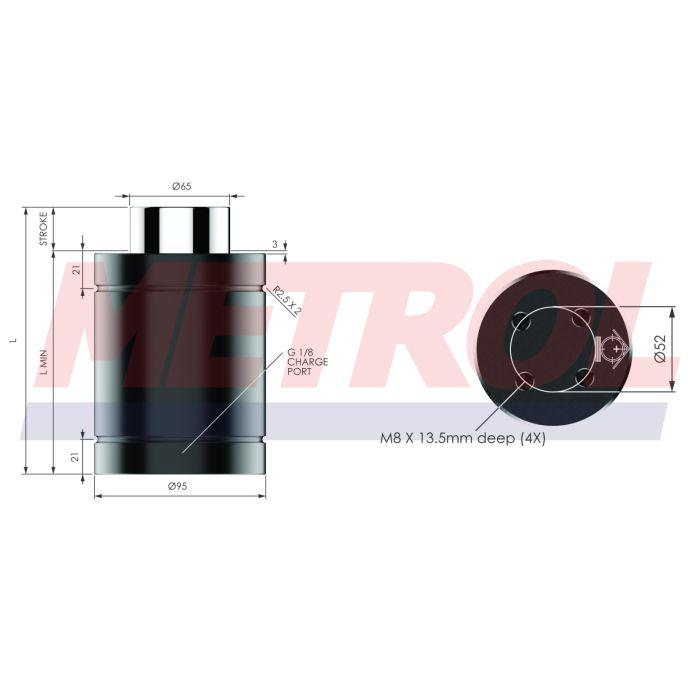 Nitrogen Gas Spring - HDG075-25