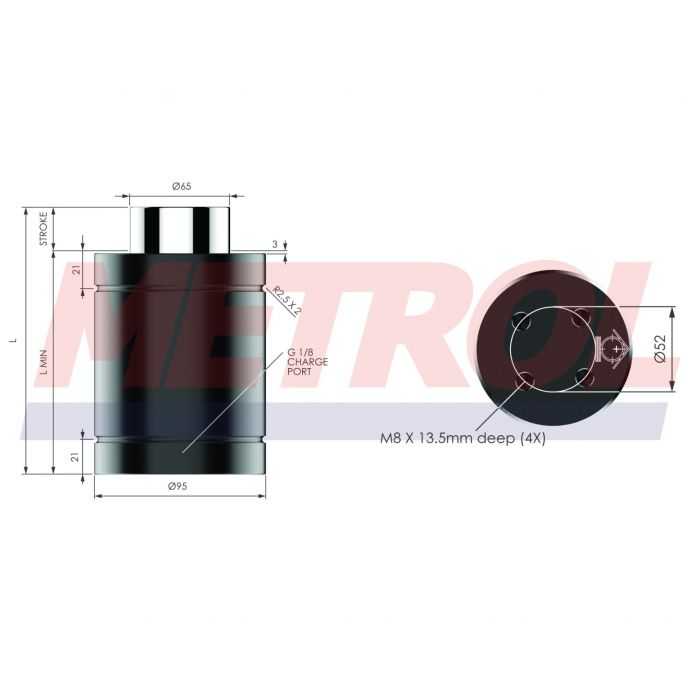 Nitrogen Gas Spring - HDG075-50