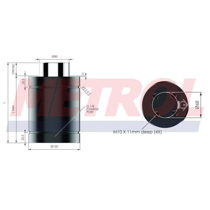 Nitrogen Gas Spring - HDG118-10