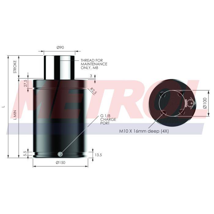 Nitrogen Gas Spring - MX9500-125