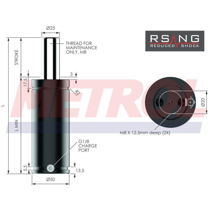 Nitrogen Gas Spring - RSNG0750-250