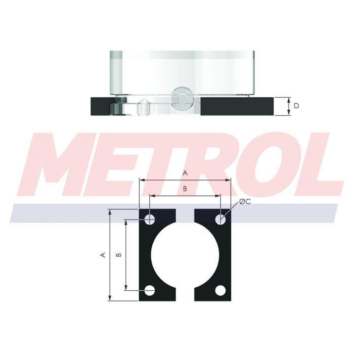 Square Flange 38SF Mounting Option