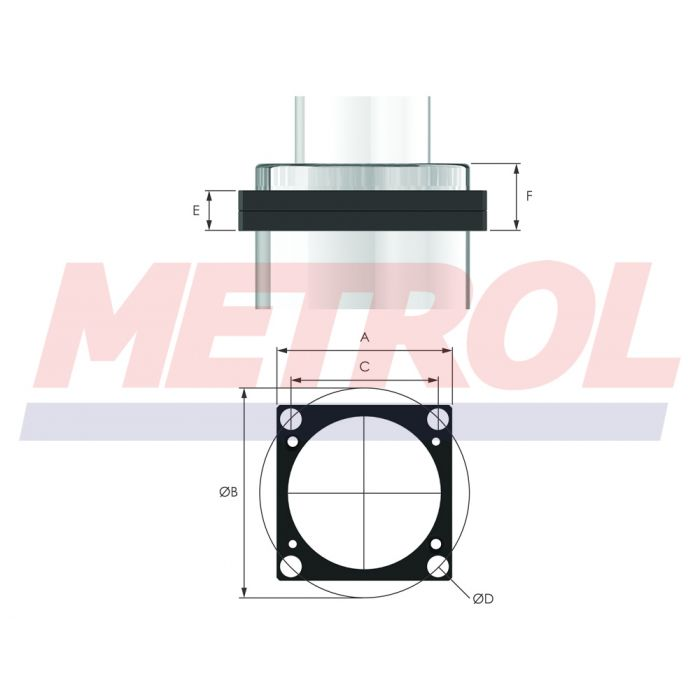 Square Front Flange 195SFF Mounting Option