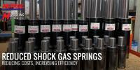 Reduced Shock Gas Springs