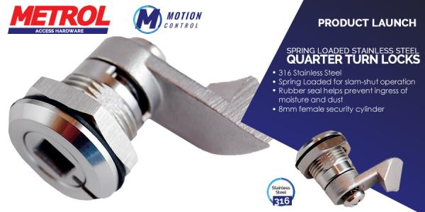 New product - Spring Loaded Quarter Turn Slam Lock – 18mm