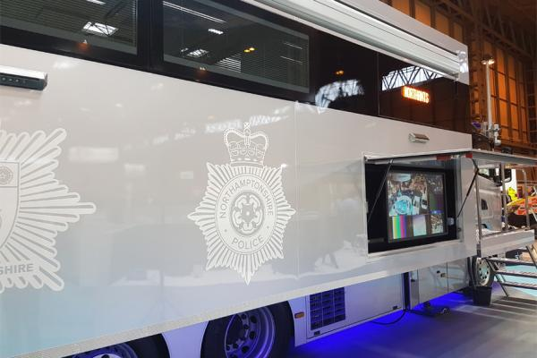 Northamptonshire Police and Fire Joint Command Vehicle fitted with Metrol Springs Products
