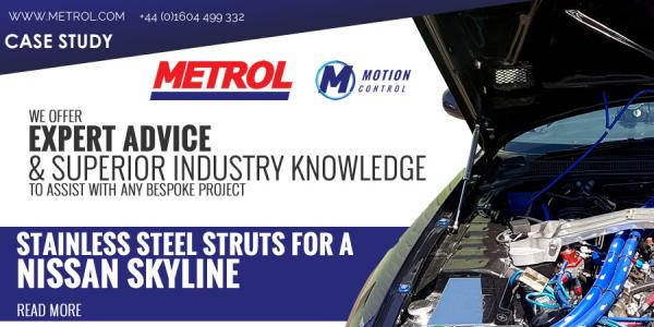 METROL Stainless Steel gas struts for the Nissan Skyline