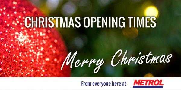 Metrol Christmas Opening Times