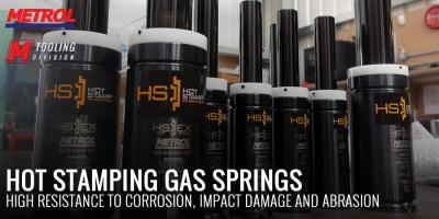 High durability and resistance - Hot Stamping gas springs