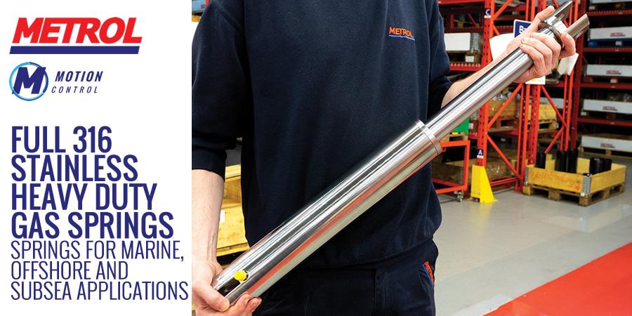 Full 316 Stainless Steel Gas Spring