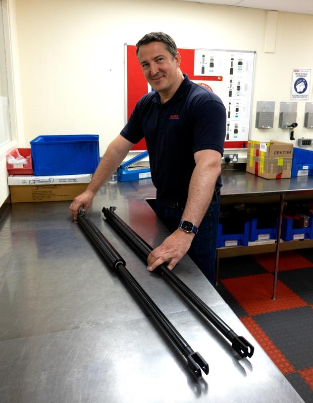 large custom gas struts