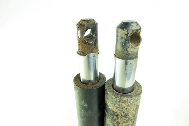 contaminated gas springs