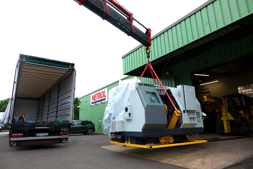 Delivery Of A New CNC Machine For Metrol