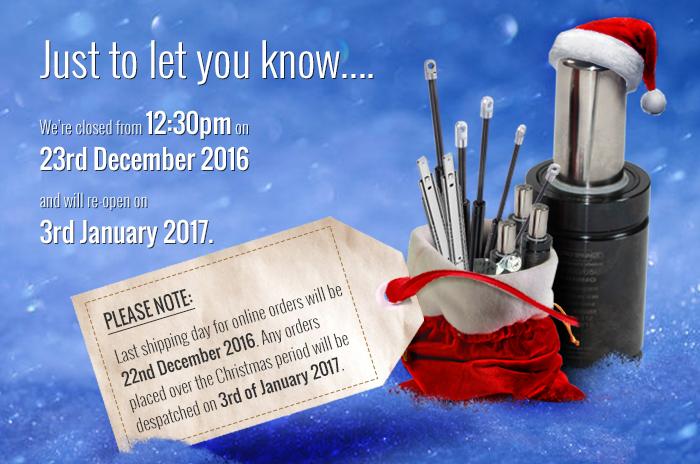 Metrol Springs Limited - Christmas Schedule