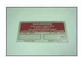 Nitro Spring Warning Plate
