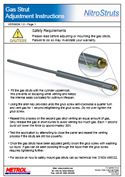 Gas Struts Adjustment Instructions